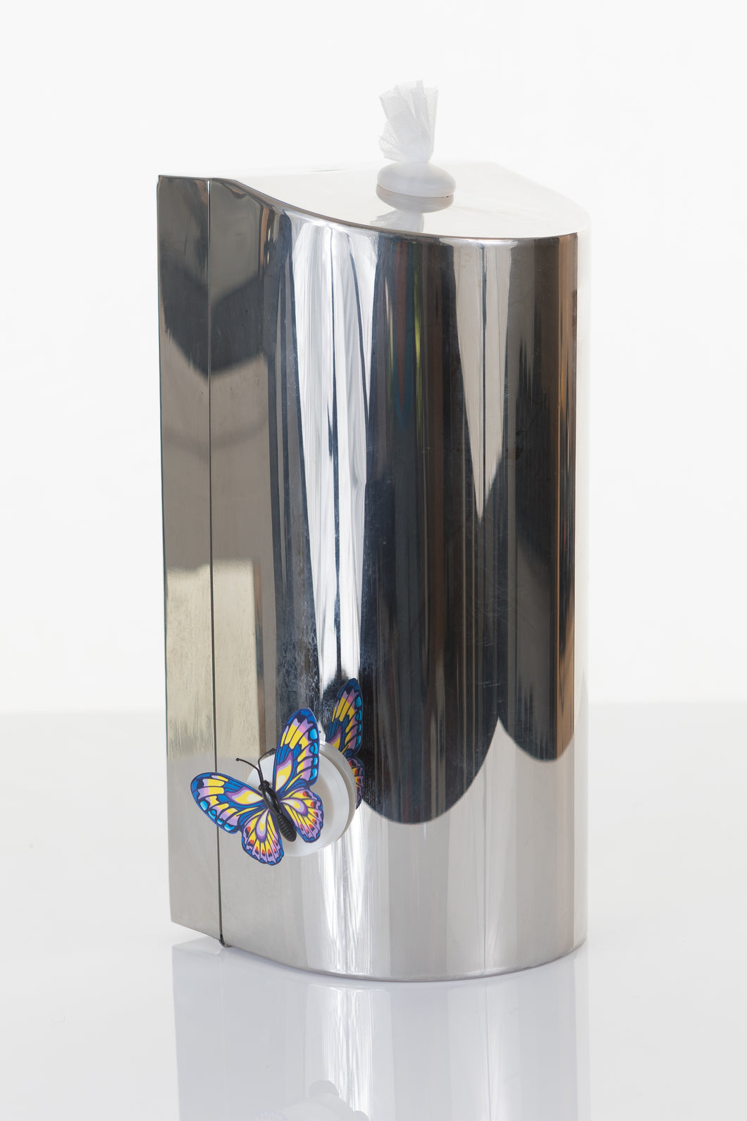 Polished Stainless Steel wall mounted dispenser