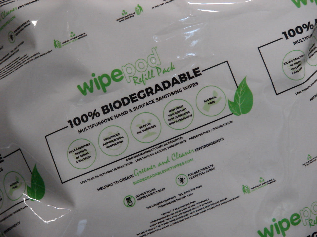 Bamboo 100% 40 GSM Bamboo, Biodegradable Antibacterial Wet Wipes, Multipurpose Hand & Surface Alcohol Free Wipes 500 Sheets ( 4 rolls Per Box )