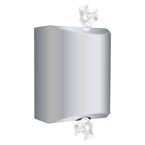 Polished Stainless Wall mounted Wet & Dry dispenser