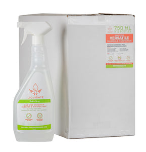 R5 Liquidate antibacterial surface spray, sanitiser / disinfectant 500 ml x 16 bottles per box Quat Free Biodide