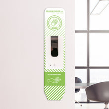 Load image into Gallery viewer, Wall Mounted Dispenser with Optional Custom Branding Backing Plate