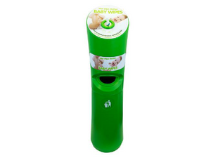 Wet Wipes Station Green / Baby Wipes Free Standing Dispenser
