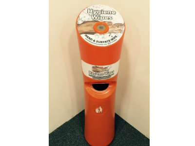 Wet Wipes Station Orange / Antibacterial Free Standing Hygiene Wipes Dispenser