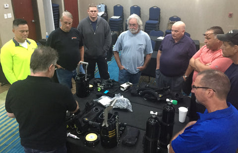 Long Beach Scuba Show California Regulator & Rebreather Combined Service Training May 5, 2017