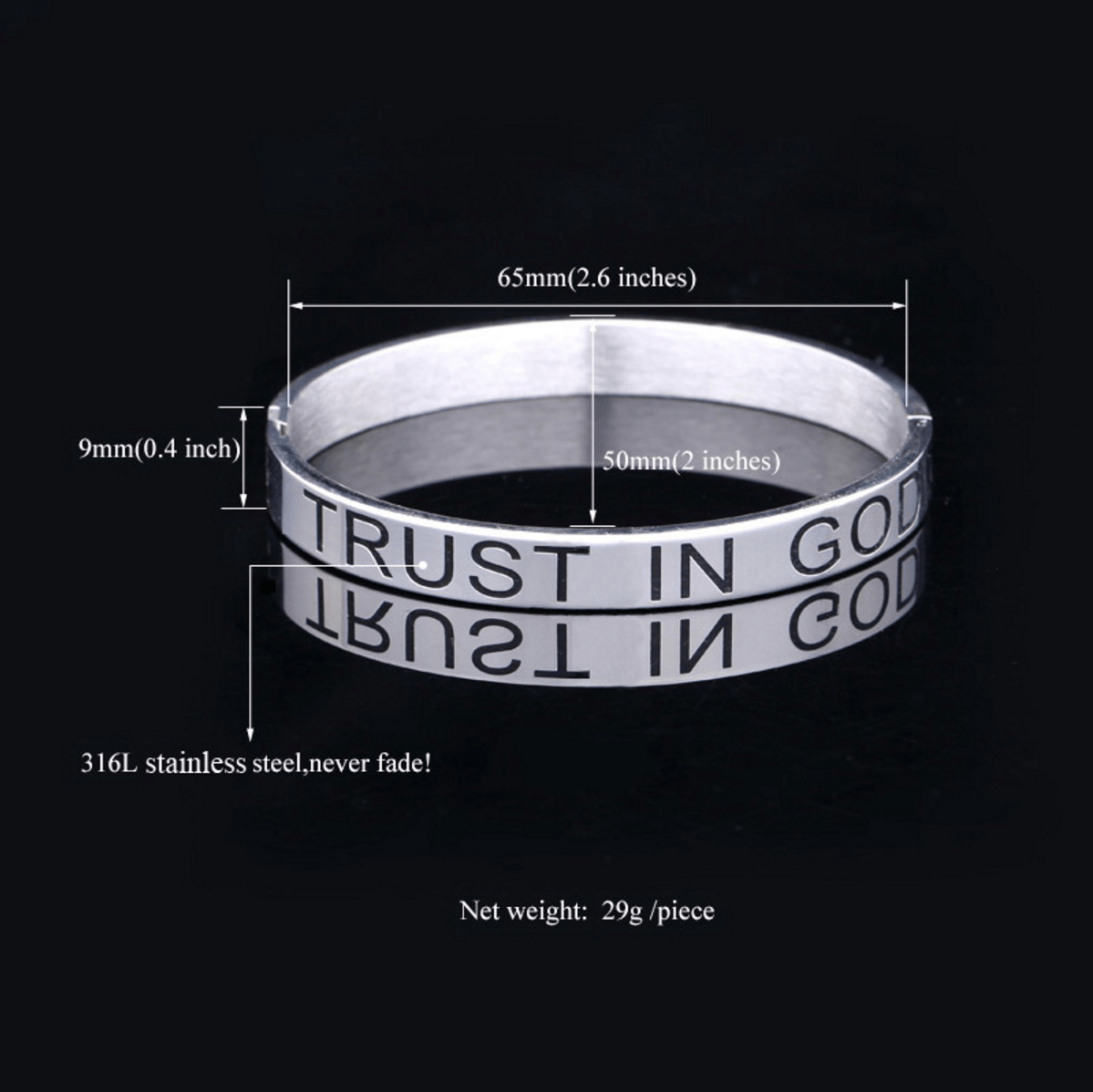 Trust In God Infinitely Bracelet - Living Christian - 3