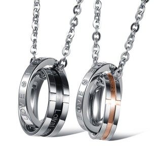 Couple's Christian Love Stainless Steel Necklaces - Living Christian - 1