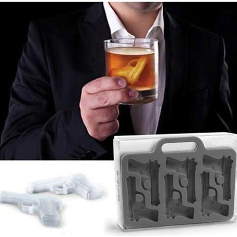 Gun and Bullet Ice Tray (2 Pack)