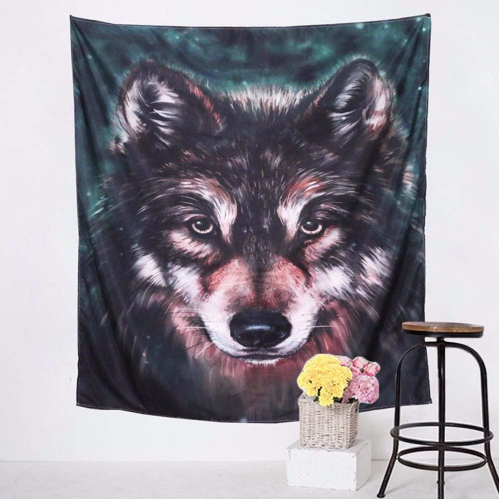 3D Wolf Tapestry