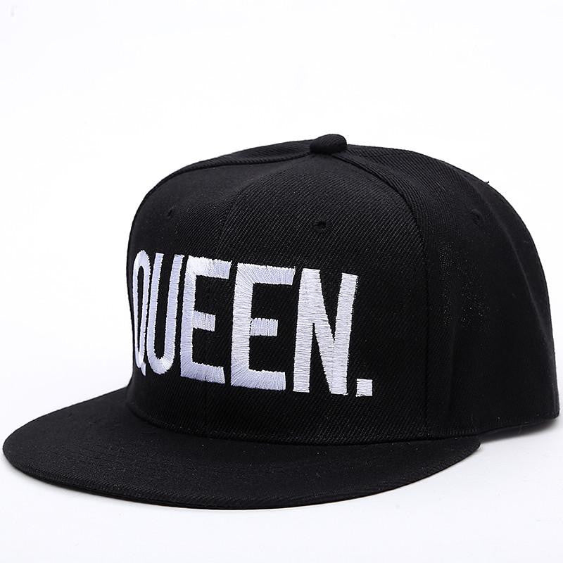 King & Queen Embroidered Snapback Hats