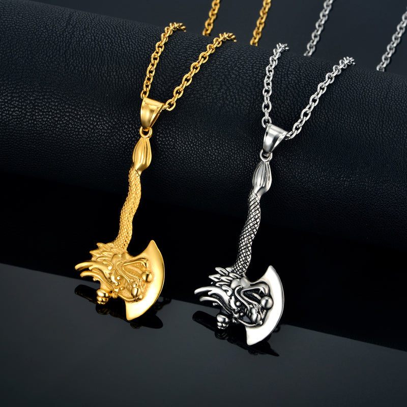 Dragon Axe Necklace