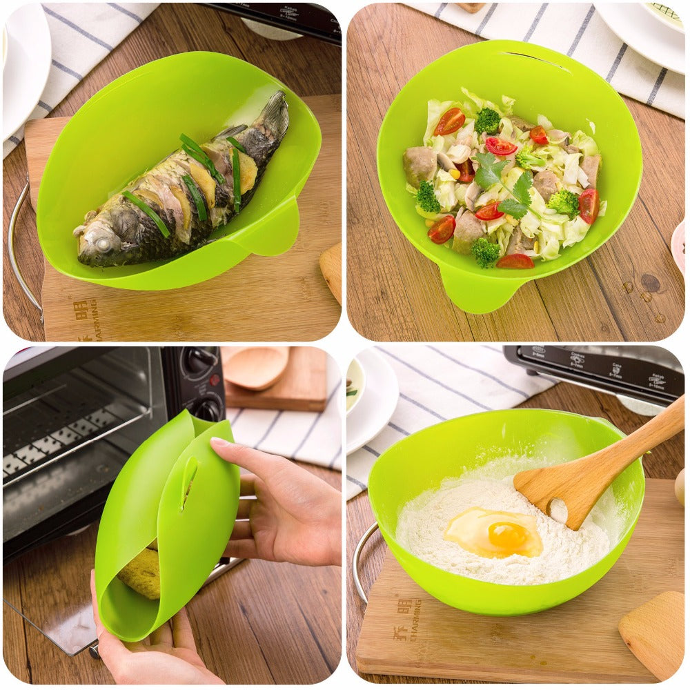 Microwavable Silicone Folding Bowl