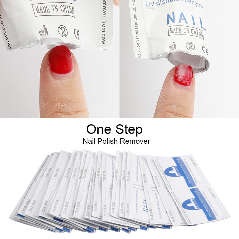 Nail Polish Remover Soaked Wipes