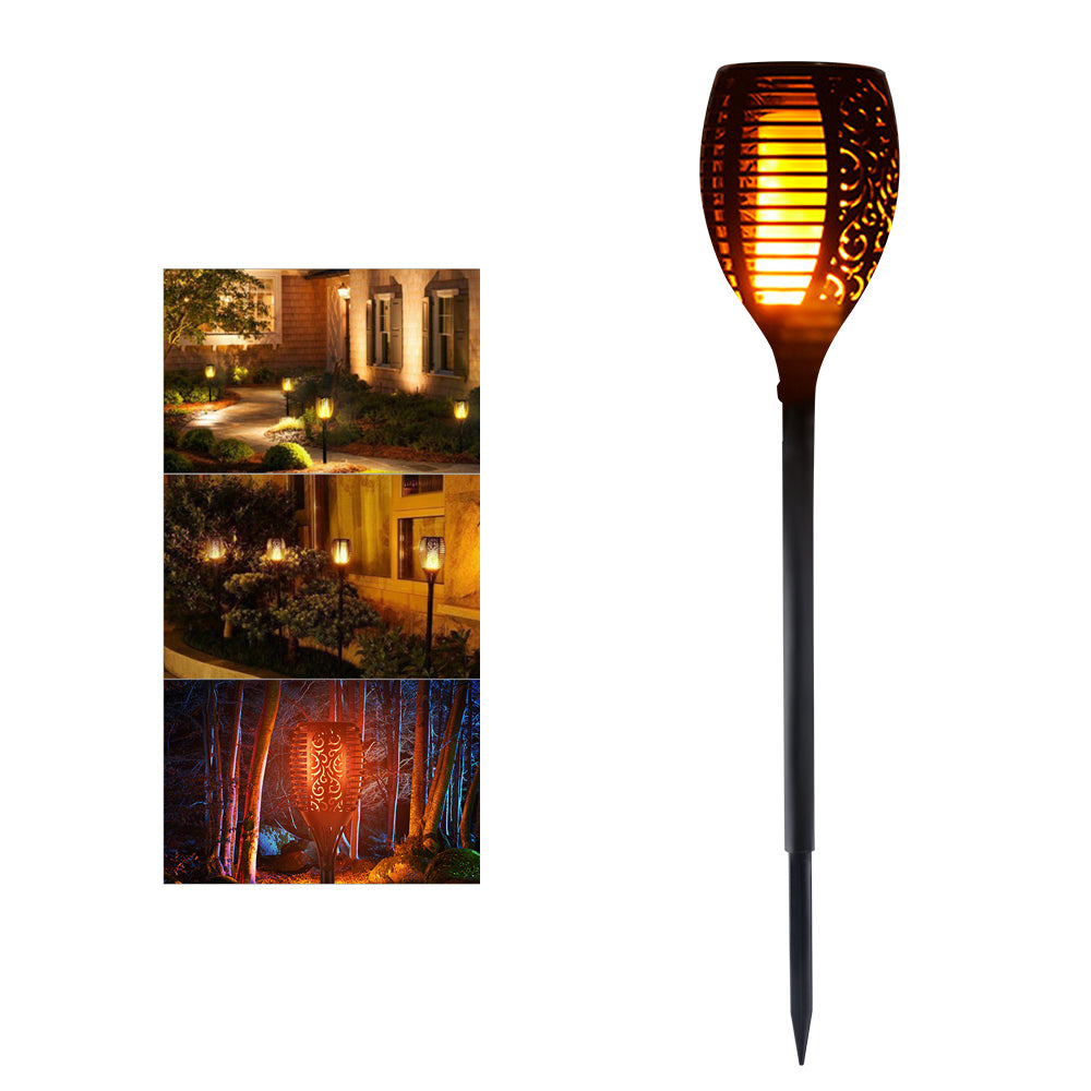 Solar Powered LED Flame Lamp