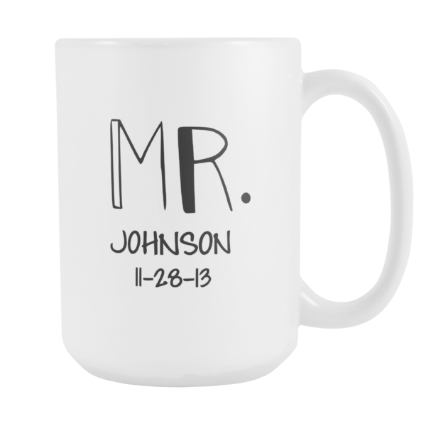 Personalized Mr. & Mrs. Mugs