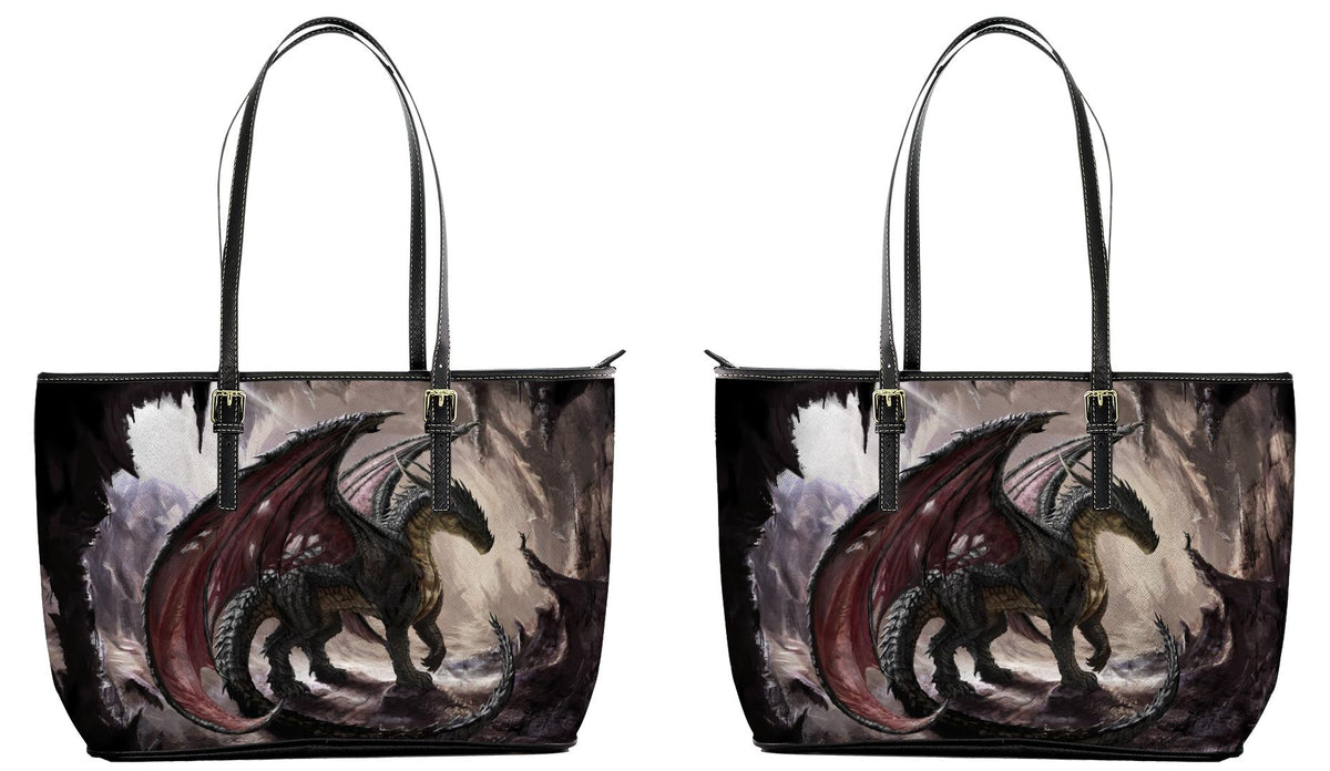 """In The Dragon's Den"" Leather Tote Bag"