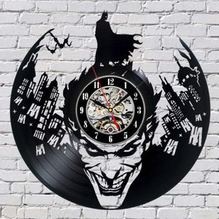 Joker vs Batman Vinyl Wall Clock