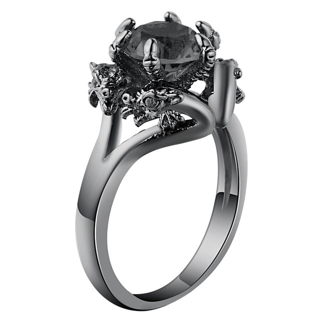 Twin Dragons Ring