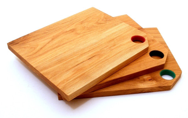 Colour Coded Oak Chopping Board Set - Panga Design