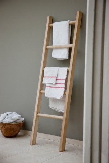 Raw Oak Towel Rail/Ladder - Panga Design