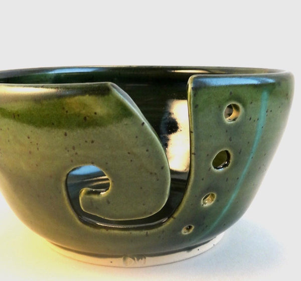 Green Leaf Yarn Bowl