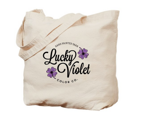 Lucky Violet Logo Project Bag