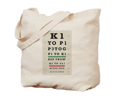 Knitter's Eye Chart Project Bag