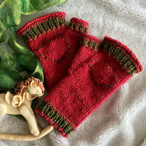 Free Knitting Pattern Hearts in the Right Place Fingerless Glove