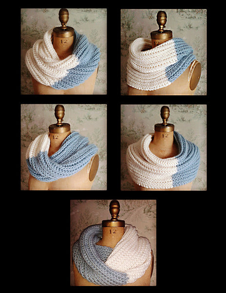 Nor'Easter Infinity / Mobeus Cowl Knitting Pattern DIGITAL DOWNLOAD