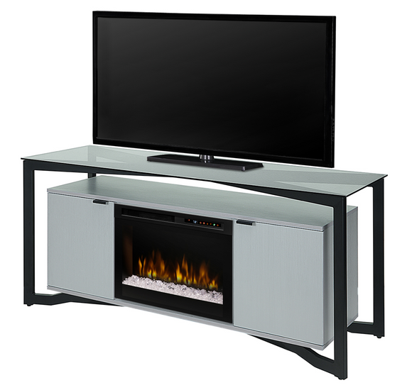 Christian Media Console with Electric Fireplace
