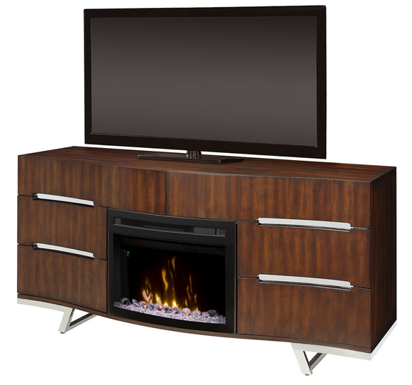 Valentina Media Console with Electric Fireplace