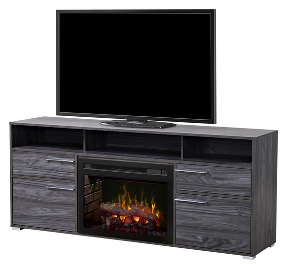 Sander Media Console with Electric Fireplace