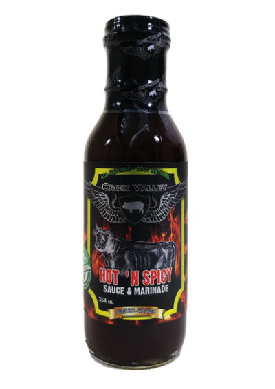 CROIX VALLEY HOT 'N SPICY SAUCE AND MARINADE