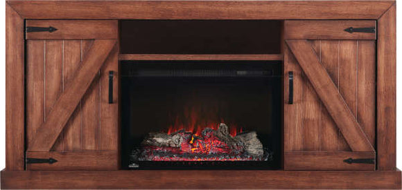 Electric Fireplace Mantel / Entertainment Package