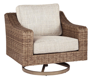 Beachcroft Collection Swivel Lounge Chair - Beige