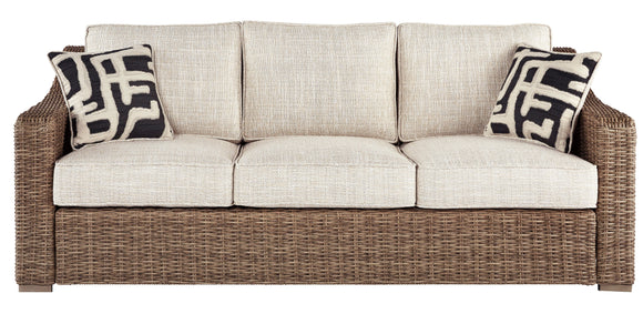Beachcroft Collection Sofa with Cushion - Beige