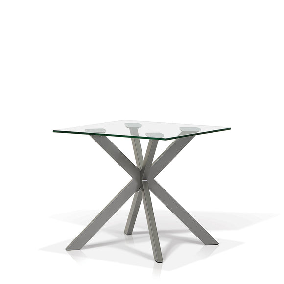 Darron Glass Top End Table