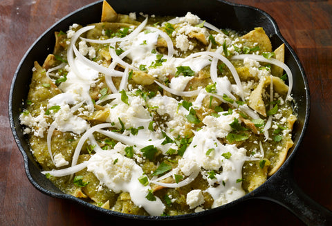 chilaquiles verdes, mexican recipe