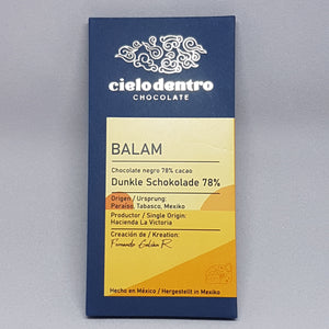Chocolate Mexicano Negro 78% Cacao CIELO DENTRO