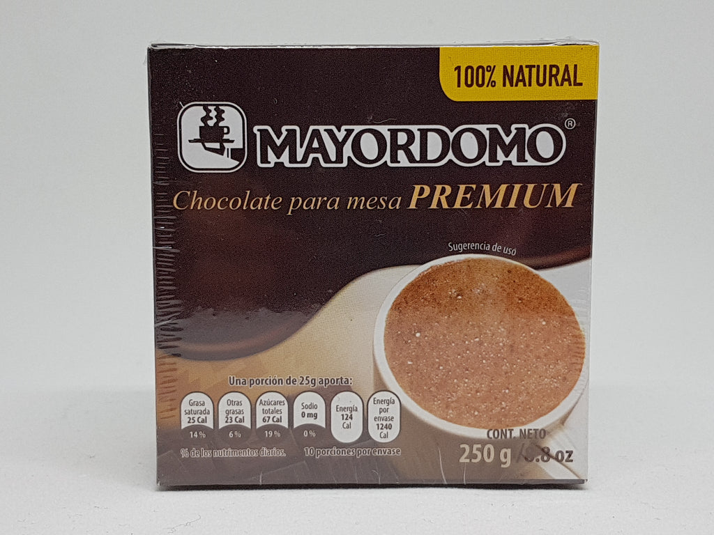 Mayordomo Chocolate premium 250 gr