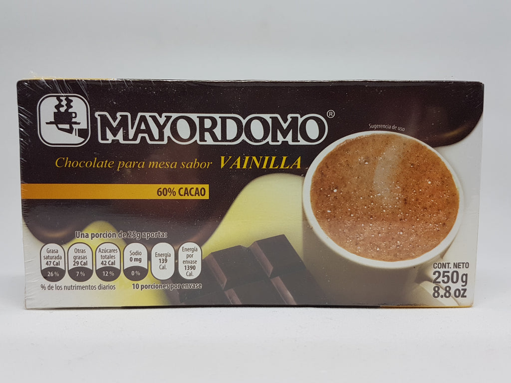 Mayordomo Chocolate Amargo-Vainilla 250g