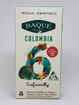 Capsulas de Café Colombiano compostable Baque