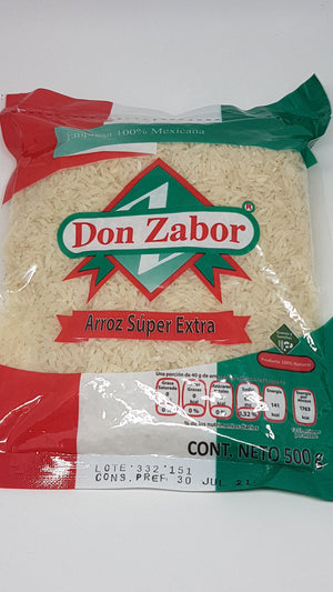 Arroz Super Extra 500 gr DON ZABOR