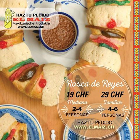 Rosca de Reyes Medium(Pick-up Only in store-Unicamente en la tienda) 3 & 4 Enero/January