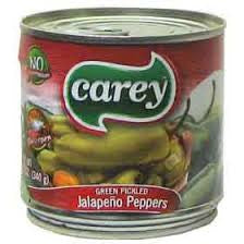 Carey jalapeños enteros  380g