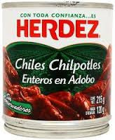 Herdez Chile Chipotle adobados 215gr