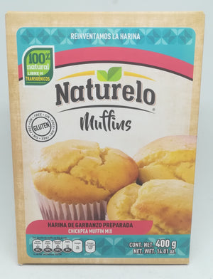 Naturelo Muffin Garbanzo Mix 400g ---Chickpea Flour/Kichererbse Mehl (Vegan-Gluten Free)