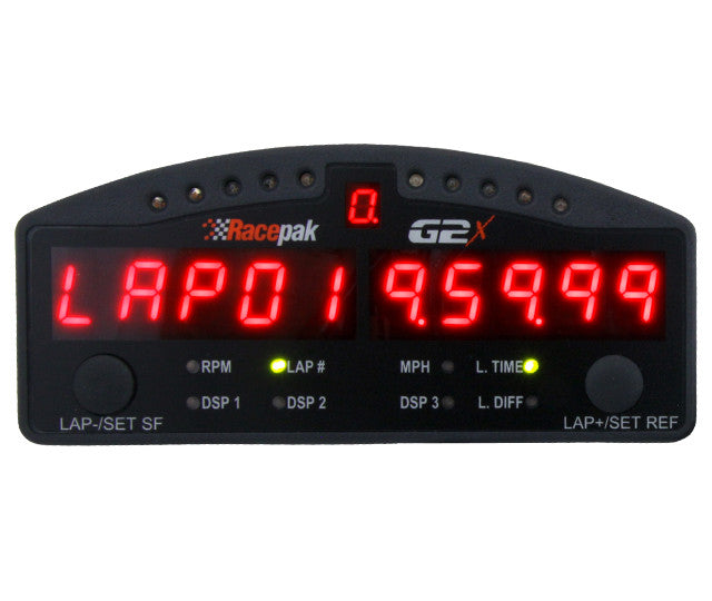 G2X RED DISPLAY DASH