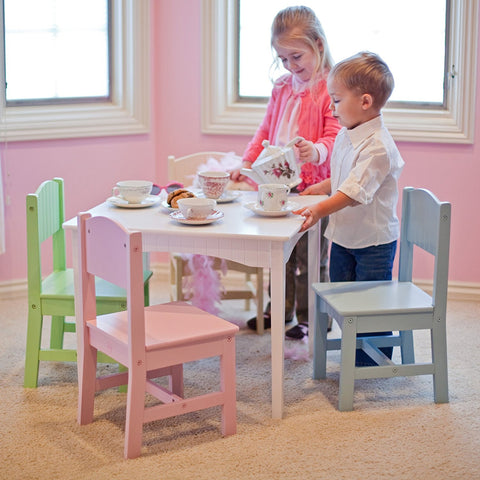 Durable Wood Construction Kidkraft Nantucket Pastel Table and Chair Set