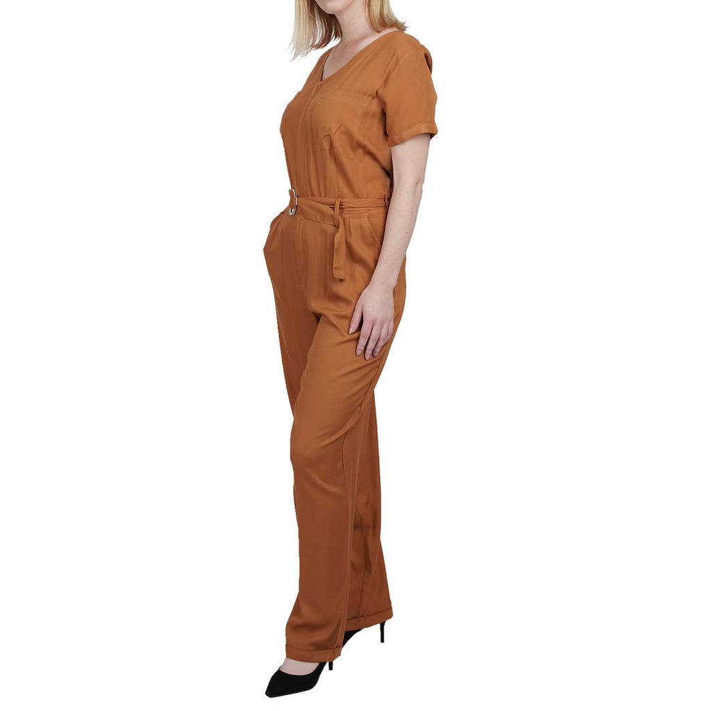 Ankle Length Jumpsuit With Chest Pockets