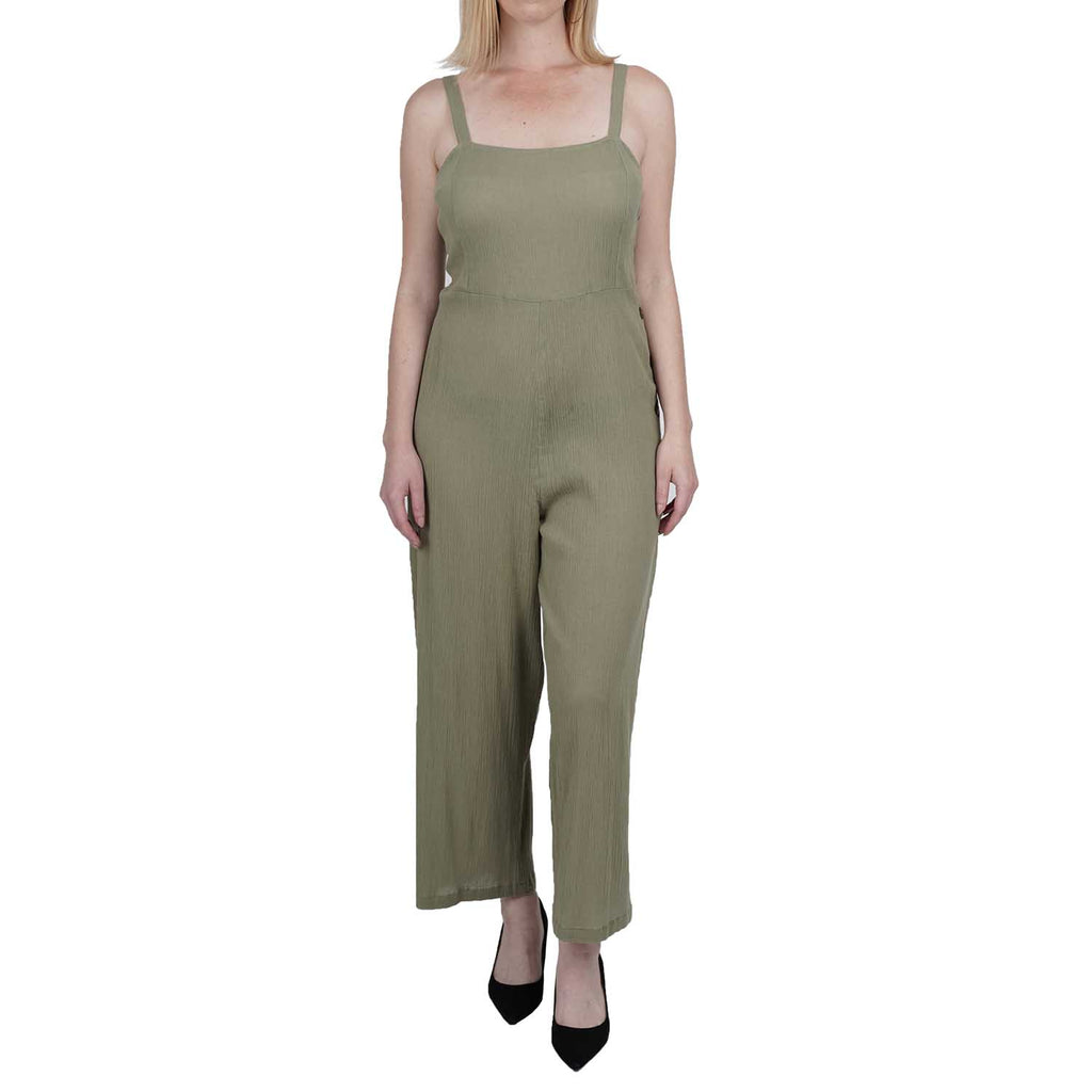 Ankle Length Jumpsuit With Side Button Detail
